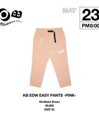 KB EDW EASY PANTS -PINK-