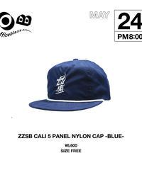 ZZSB CALI 5 PANEL NYLON CAP [BLUE]