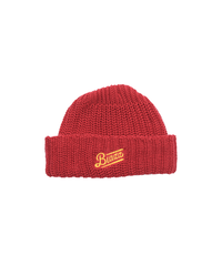 LOGO SHORT BEANIE [RED x GOLDYELLOW]