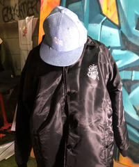 chitto×blazz tattoo BoA coach jacket【BLACK】L