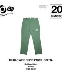 KB GAP WIDE CHINO PANTS [GREEN] (32x30)