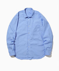 NOEL WIDE REGULAR COLLAR SHIRTS-SKY- モデル着用Mサイズ(身長178cm)