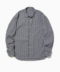 PETER WIDE REGULAR COLLAR SHIRTS-GINGHAM- モデル着用Mサイズ(身長181cm)