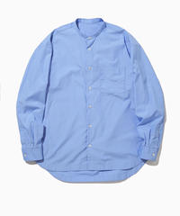BAUSKIA WIDE BAND COLLAR SHIRTS-SKY- モデル着用Lサイズ(身長178cm)