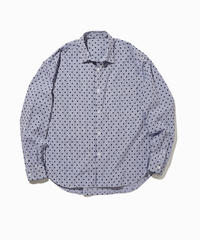 NOEL WIDE REGULAR COLLAR SHIRTS-DOT- モデル着用Mサイズ(身長178cm)