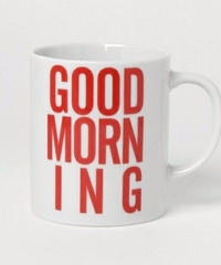 GOOD MORNING COFFEE MUG -RED-