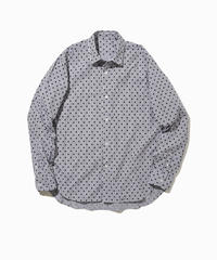 JOHN REGULAR COLLAR SHIRTS-DOT- モデル着用XLサイズ(身長178cm)