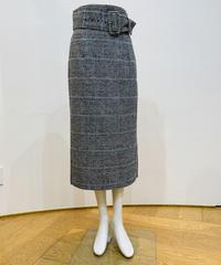 グレンチェックストレートスカート