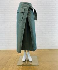 巻き風ベルトスカート