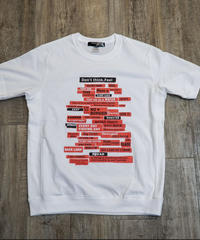men's ランダムロゴパネルTシャツ