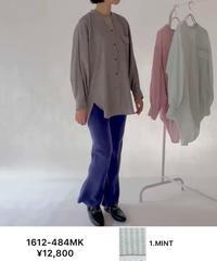 【CHIGNON ご予約】バックボリュームストライプシャツ
