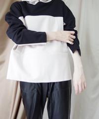 【MARGAUXご予約】ダブルニットバイカラーフーディ