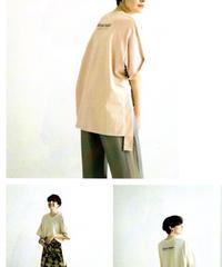 【ラリアムー Lallia Mu ご予約】VネックオーバーTシャツ