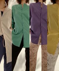 【大人気再入荷】カラー袖リブシャツ