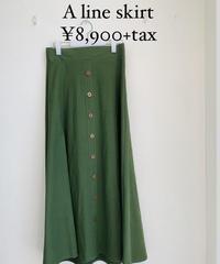 Aラインスカート (セットアップ)