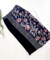 ジャガード・ツイード・ニット切り替えストレートスカート/HARU'S AMI/181005