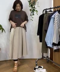 エコレザー切り替え8枚接ぎlongスカート