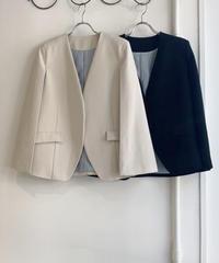 【アナナanana&クミンCUMIN 22pre‐SPRINGご予約】スラッシュ袖ストレッチツイルジャケット (set up)