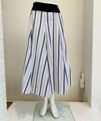 綿ローン切り替えマルチストライプスカート