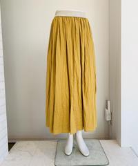 麻ギャザーlongスカート