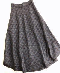 バイアス後さがりcheckAラインスカート/181225-2