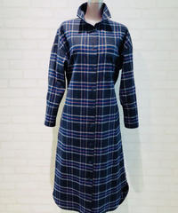 ネル素材checkシャツワンピース/181202