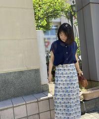 ●インスタLive● 手染め風ジオメトリックAラインスカート