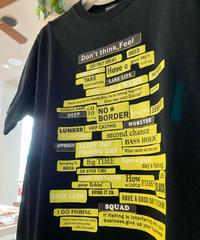 ランダムロゴパネルTシャツ (ブラック)