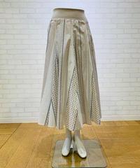パネルプリント・ロングスカート