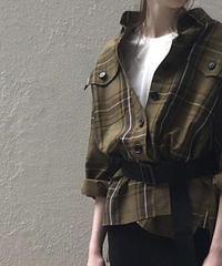 トレンチ生地シャツジャケット