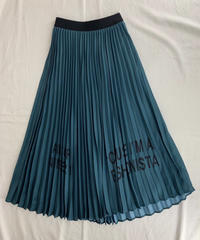 ロゴプリント  プリーツロングスカート