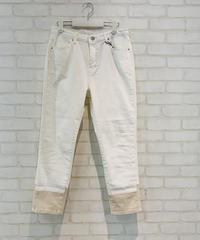 裾切り替えツートンdenim(ホワイト)