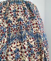 小花柄タックプリーツスカート