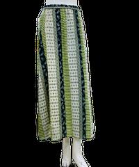 ●再生産決定●パネル柄生地パッチワークAラインスカート/190119