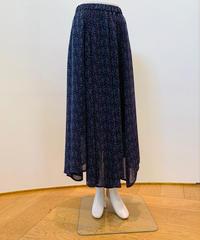 シフォン小花プリント・アシンメトリー裾longスカート (set up)