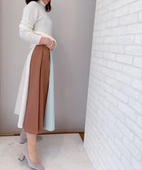 マルチバイカラー サテンスカート