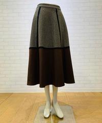 ヘリンボーンバイカラースカート