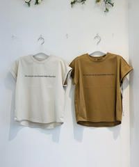 【Tomo'sSERECT】バンドフレンチ袖シルケットLOGO‐Tee (I'm sure you can do much better than that.)