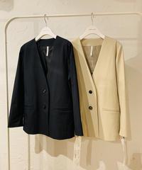 【ディニテコリエ Dignite collier 22SPRINGご予約】ノーカラージャケット