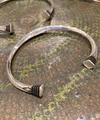 Touareg Silver(トゥアレグ シルバー)  bangle 02 (Square Ebony wood )
