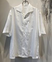 SOWBOW (ソウボウ) Cotton Silk One-Peace Collar Shirt(コットンシルクワンピースカラーシャツ)