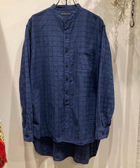 TIGRE BROCANTE (ティグルブロカンテ) India stand shirt satin dobby check