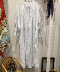 "1900's French Antique""Church Long Smock"" Dress Linen(1900's フランス アンティーク チャーチロングスモック ドレス リネン)"
