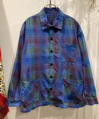 TIGRE BROCANTE (ティグルブロカンテ) RAINBOW SATIN CHECK  VENICE BEACH SHIRT JACKET