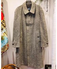 """Vintage Burberry """"Wool herringbone tweed""""  Balmacaan Coat"""
