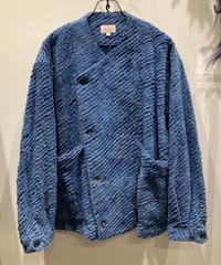 根津洋品店 NEZU YOHIN TEN (ネズヨウヒンテン)  IndigoTripleSheeting Shirt Jacket(インディゴトリプルシーティングノーカラー シャツジャケット)
