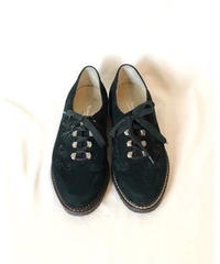 "Used ""Green Color"" Shoes made in Italy Suède Tyrolean Shoes Woemen's"
