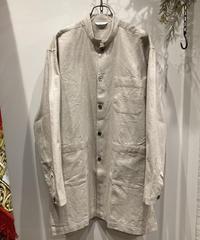 FUJITO (フジト)  cotton/linen canvas shirt coat