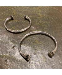 Touareg Silver(トゥアレグ シルバー) bangle A11 (Square Ebony wood large)