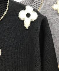 🥀大人っぽい花柄カーディガン❄️(NO.7884)